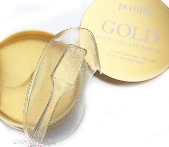 Petitfee gold hydrogel eye patch texture