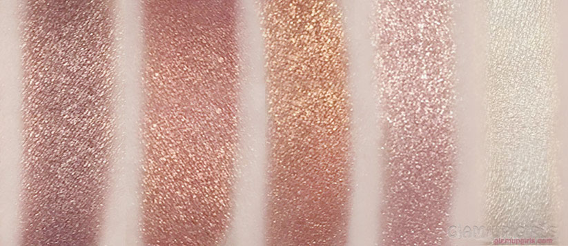 Makeup Revolution Vivid Shimmer Brick in Rose Gold Swatches