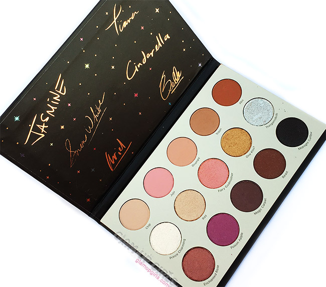 ColourPop It's a Princess Thing Pressed Powder Shadow Palette, Review and Swatches