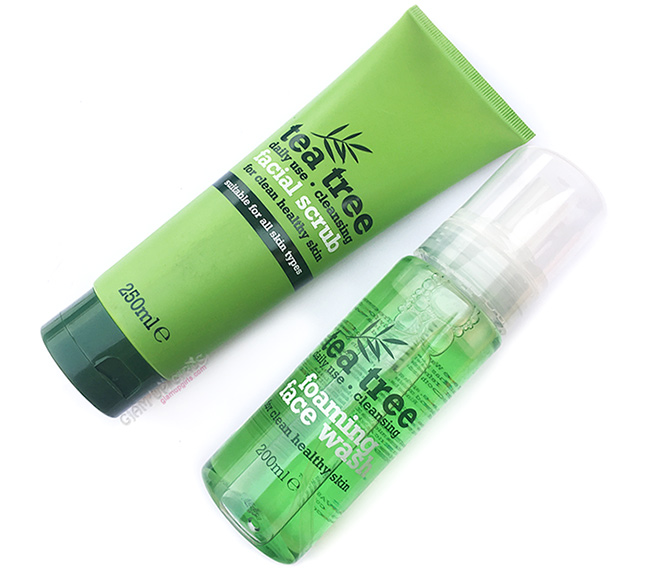 Tea Tree Cleansing Foaming Face Wash and Facial Scrub - Review