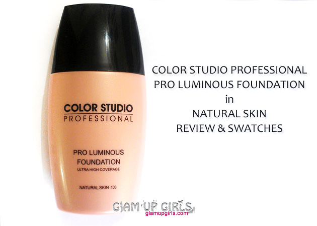 Color Studio Professional Pro Luminous Foundation - Review and Swatches