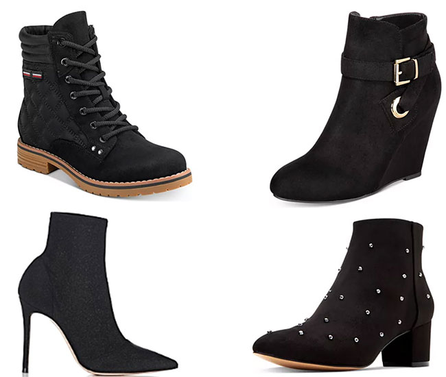 Stylish women black ankle boots for winters