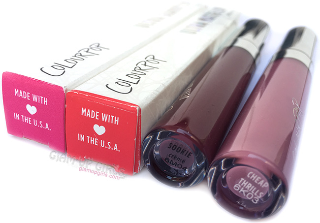 ColourPop Ultra Glossy Lip Sookie and Ultra Matte Lip Cheap Thrills