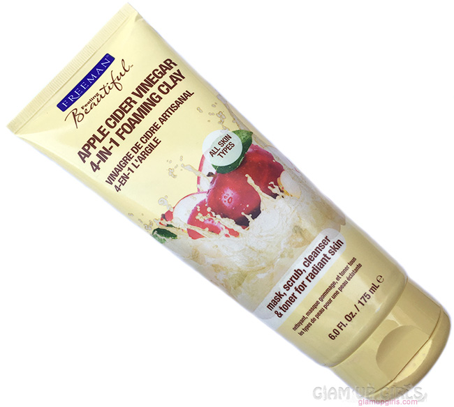 Freeman Apple Cider Vinegar 4-in-1 Foaming Clay Mask, Scrub, Cleanser - Review