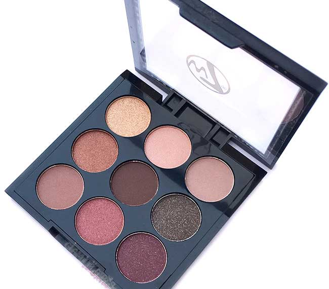 W7 Naughty Nine Eyeshadow Collection in Mid Summer Nights - Review and Swatches