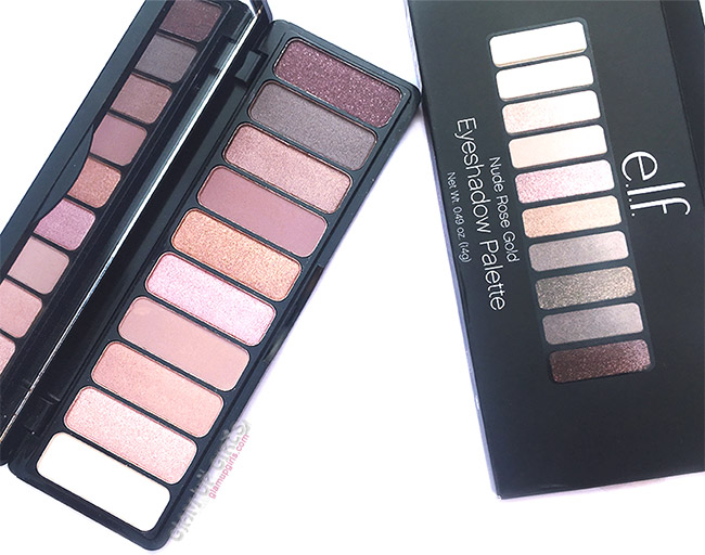 e.l.f. Nude Rose Gold Eyeshadow Palette Review and Swatches