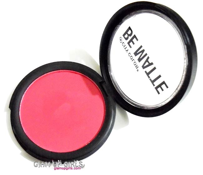 City Color Be Matte Blush in Blood Orange - Review and Swatches