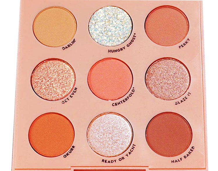 ColourPop Baby Got Peach Shadow Palette Cloase Up
