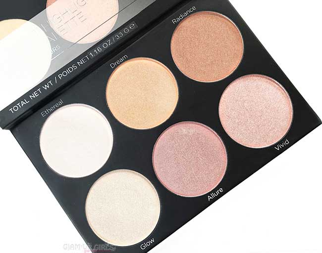 BH Cosmetics Spotlight Highlight Palette - Review and Swatches