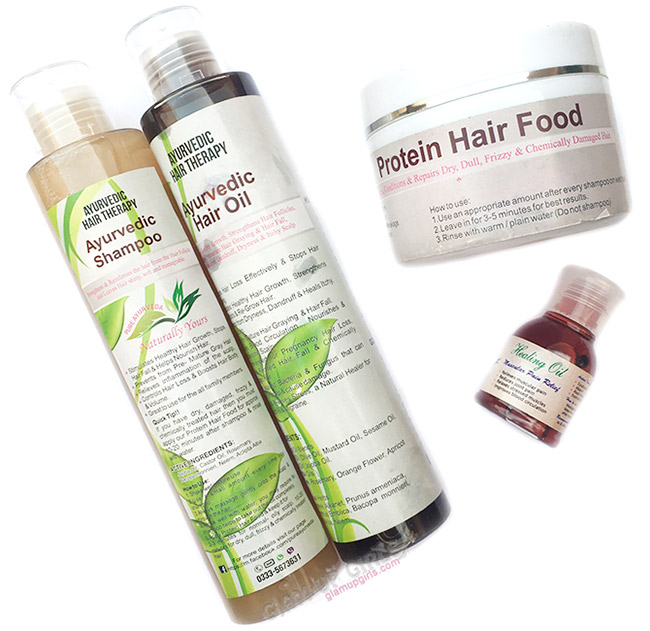 Pure Ayurvedic Hair Therapy, Hair Oil, Shampoo and Protein Hair Food Review