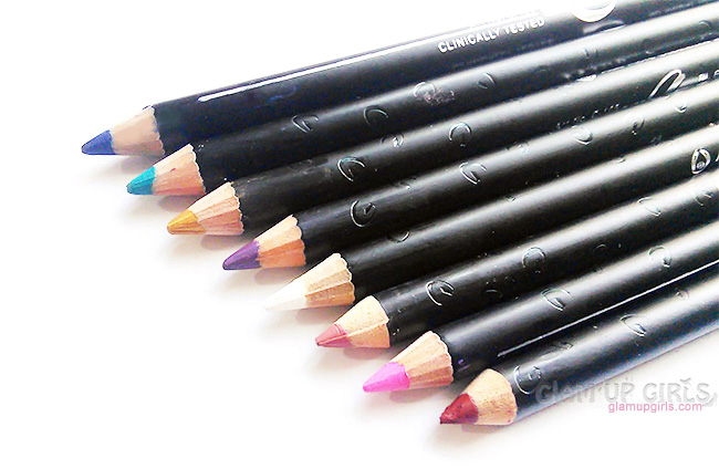 Christine Lip liner and Eye liner Pencils - Review and Swatches