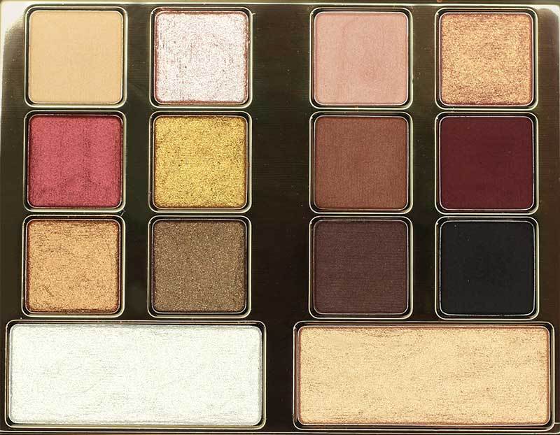 Milani Gilded Desires Eye and Face Palette Close up