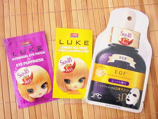 Luke Nose Strips, Eye Patch and SOC Sheet Masks from Skin18 - Review
