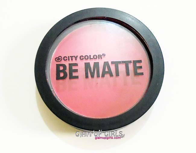 CITY COLOR Be Matte Blush in Shade Blood Orange