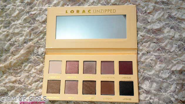 Lorac Unzipped Eyeshadow Palette EOTD - Review and swatches