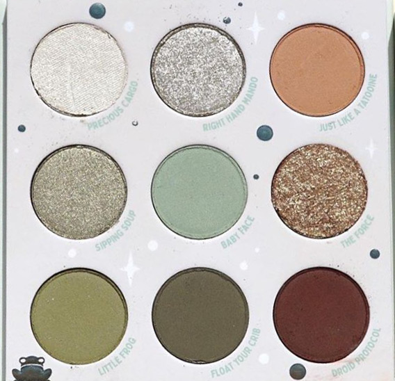 ColourPop Star Wars The Mandalorian Eyeshadow Palette Close Up