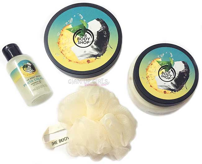 The Body Shop Pinita Colada Body Butter, Scrub, shower Gel - Review