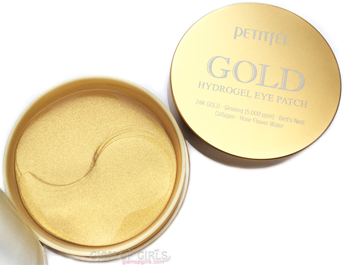 Petitfee gold hydrogel eye patch packaging