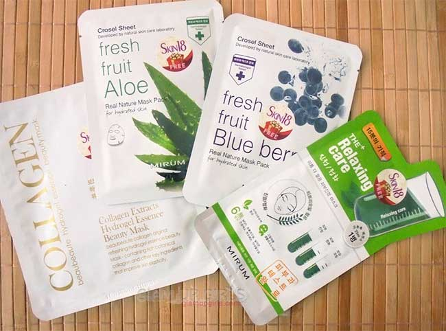 BeauBeaute and Mirum Facial Sheet Masks from Skin18 - Review