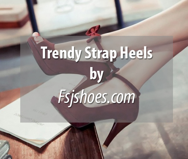 Trendy Strap Heels by Fsjshoes