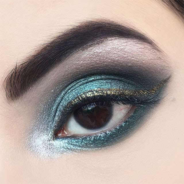 Independence Inspired Emerald Green Eye Look - EOTD