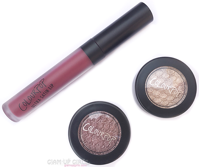 ColourPop Sweet Set, Ultra Satin Wink, Super Shock Shadow Tinsel and Koosh - Review and Swatches