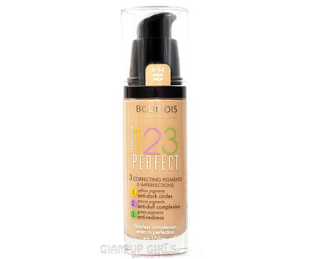 Bourjois 123 Perfect Foundation - Review and swatches