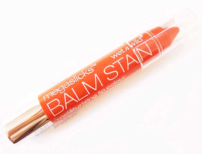 Wet n Wild Mega Slicks Lip Balm Stain in See If I Carrot - Review and Swatches