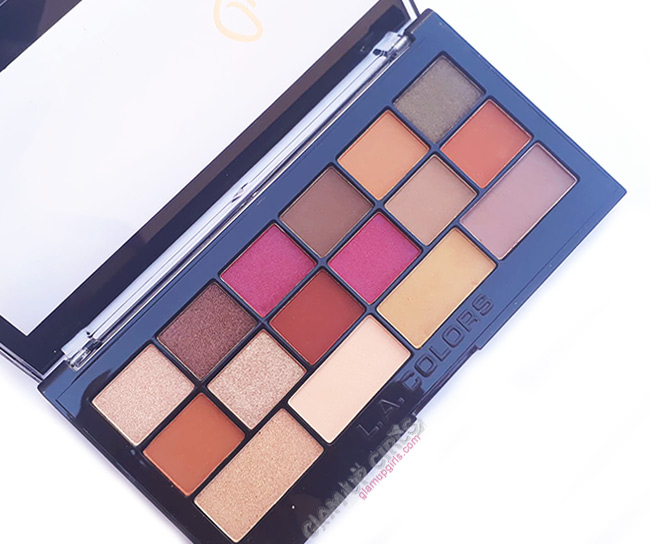 L.A. Colors Sweet! 16 Color Eyeshadow Palette in Brave, Review and Swatches
