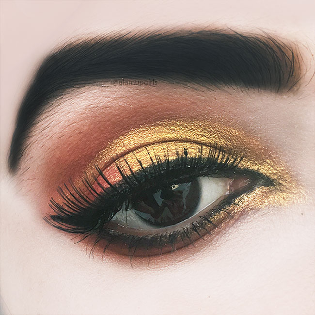 Gold Orange Eye Look - EOTD