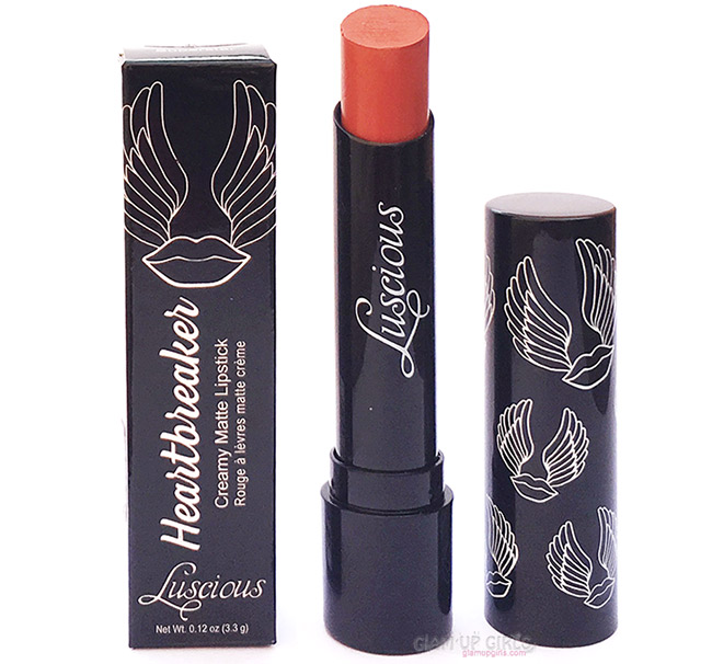 Luscious Heartbreaker Creamy Matte Lipstick in Superstar - Review