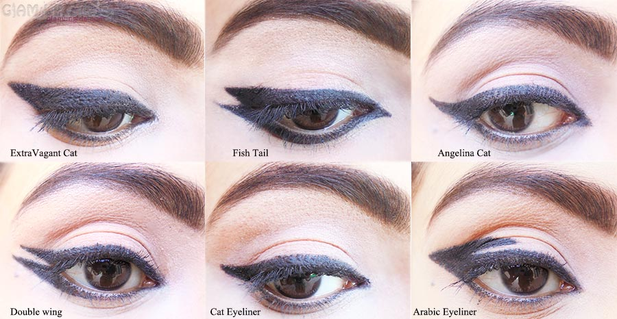 Eyeliner styles with Eyeliner Stencils by Reasonablez.com