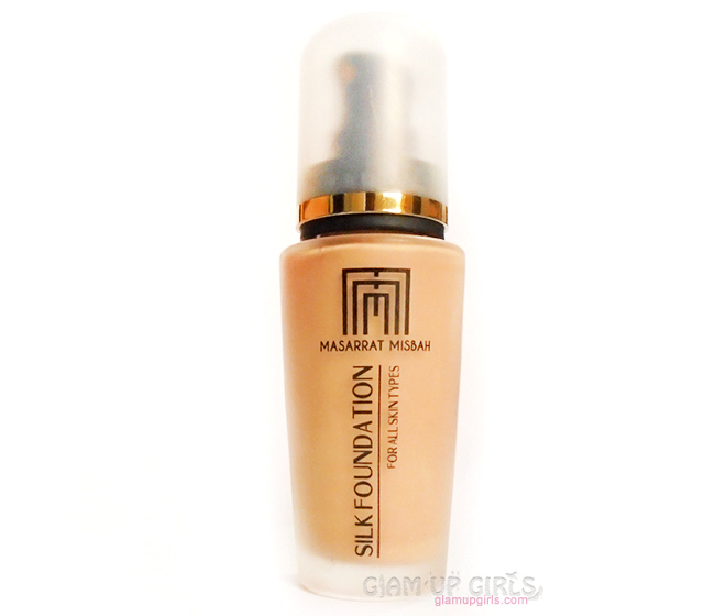 Masarrat Misbah Makeup Silk foundation in Almond - Review and Swatches