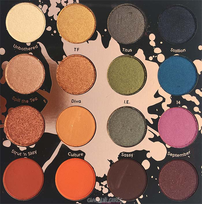 ColourPop Perception Pressed Powder Shadow Palette SHAYLA XColourPop Perception Pressed Powder Shadow Palette Close Up